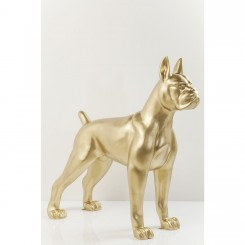 CHIEN TOTO XXL GOLD DECORATIF KARE DESIGN