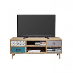MEUBLE TV AU STYLE SCANDINAVE EN BOIS PATCHWORK CAPRI KARE DESIGN
