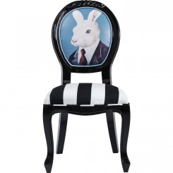 CHAISE BAROQUE LAPIN NOIR ET BLANC MR RABBIT KARE DESIGN