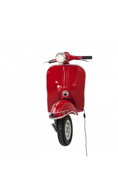 APPLIQUE MURALE VESPA ROUGE BIG SCOOTER KARE DESIGN