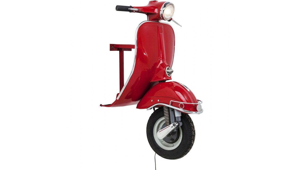 achetez votre applique murale vespa rouge big scooter pas. Black Bedroom Furniture Sets. Home Design Ideas