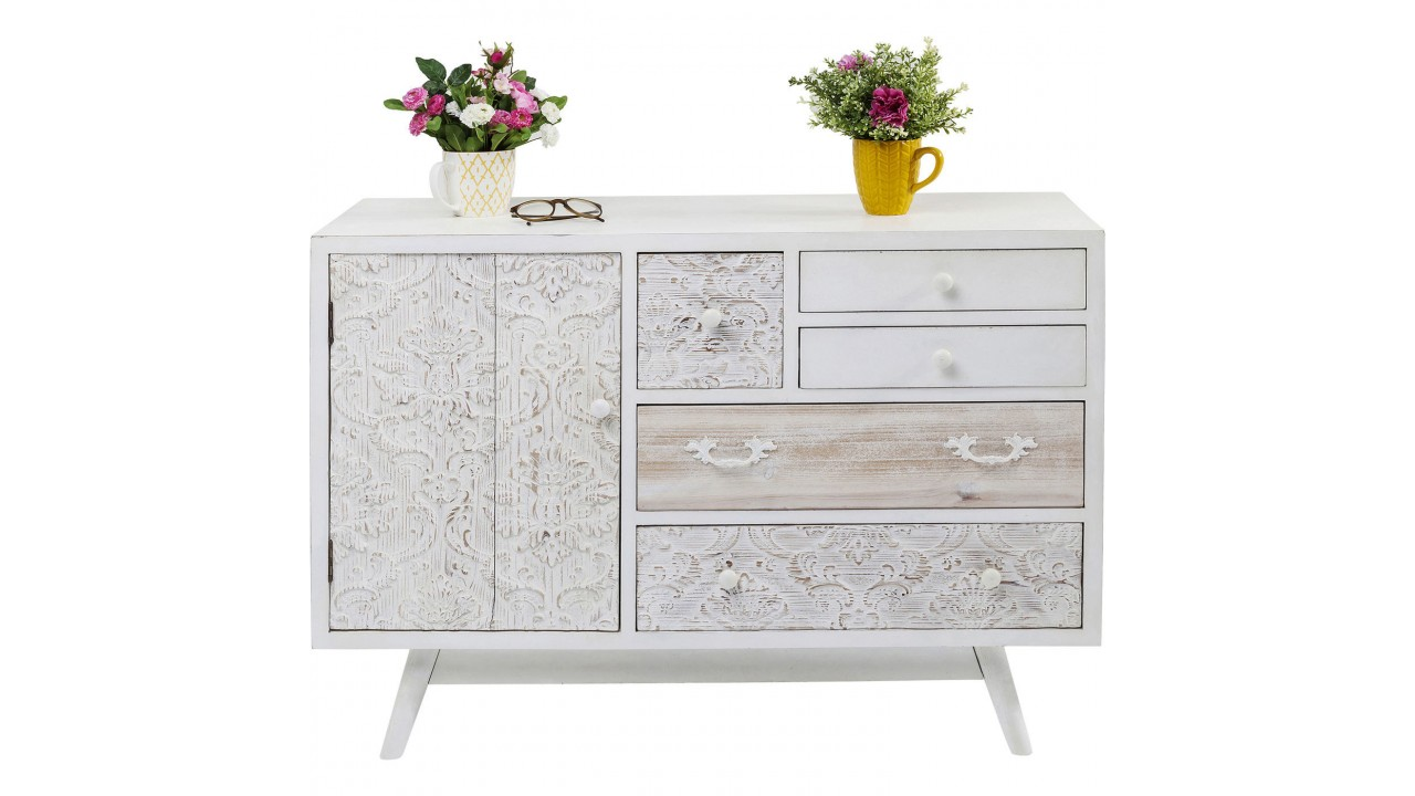 achetez votre buffet bois blanc patin romantique sweet. Black Bedroom Furniture Sets. Home Design Ideas