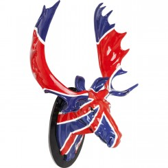 TETE DECORATIVE D'ELAN UNION JACK ELK KARE DESIGN