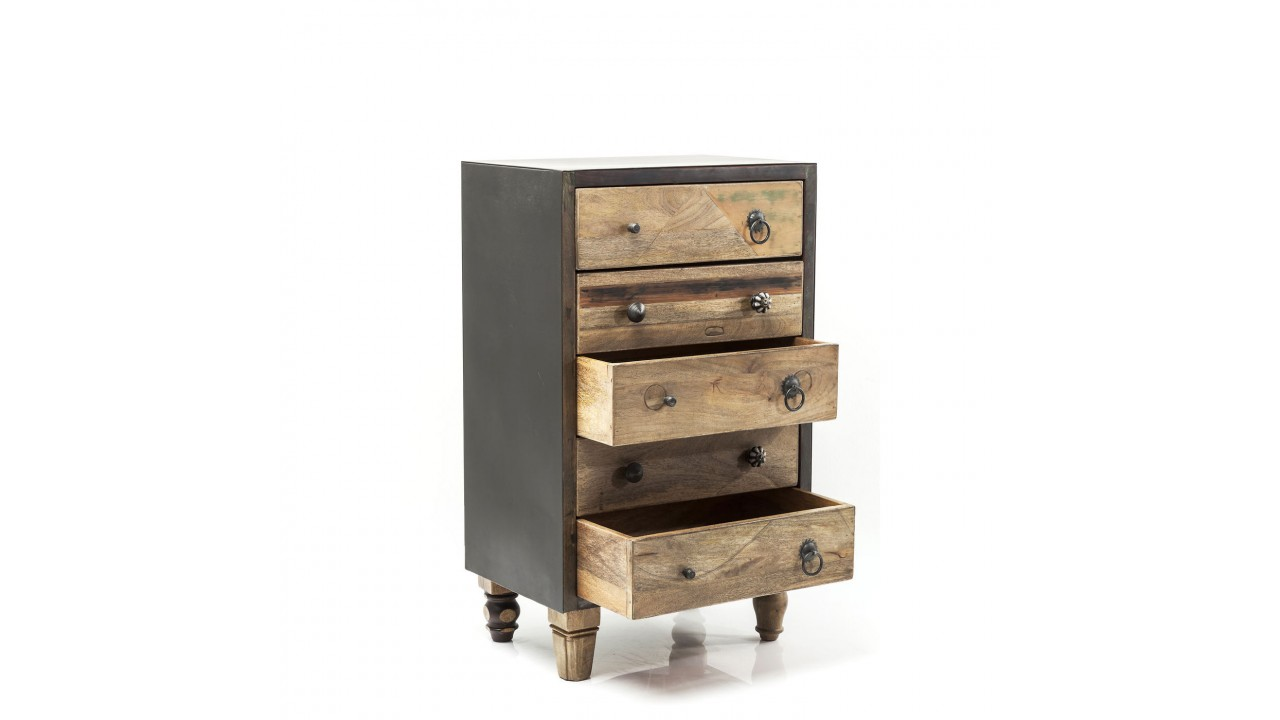 achetez votre chiffonnier industriel 5 tiroirs bois et acier duld range kare design pas cher sur. Black Bedroom Furniture Sets. Home Design Ideas