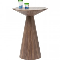 TABLE HAUTE BOIS NOYER PLATEAU ROND BACKSTAGE KARE DESIGN