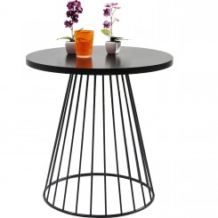 Table d'appoint design noir 60 cm Bistro
