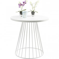 Table d'appoint design blanche 75 cm Bistro