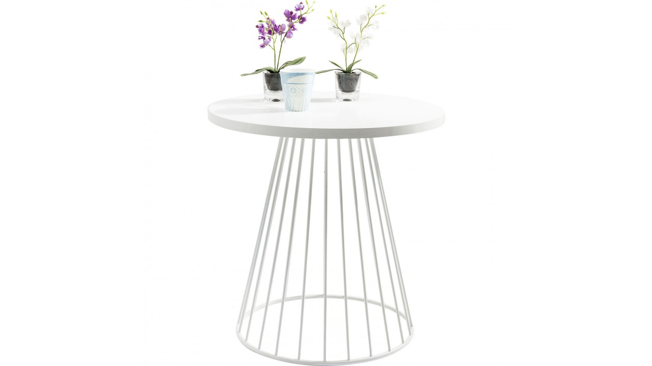 Achetez table d 39 appoint design blanche 75 cm bistro pas for Table design blanche