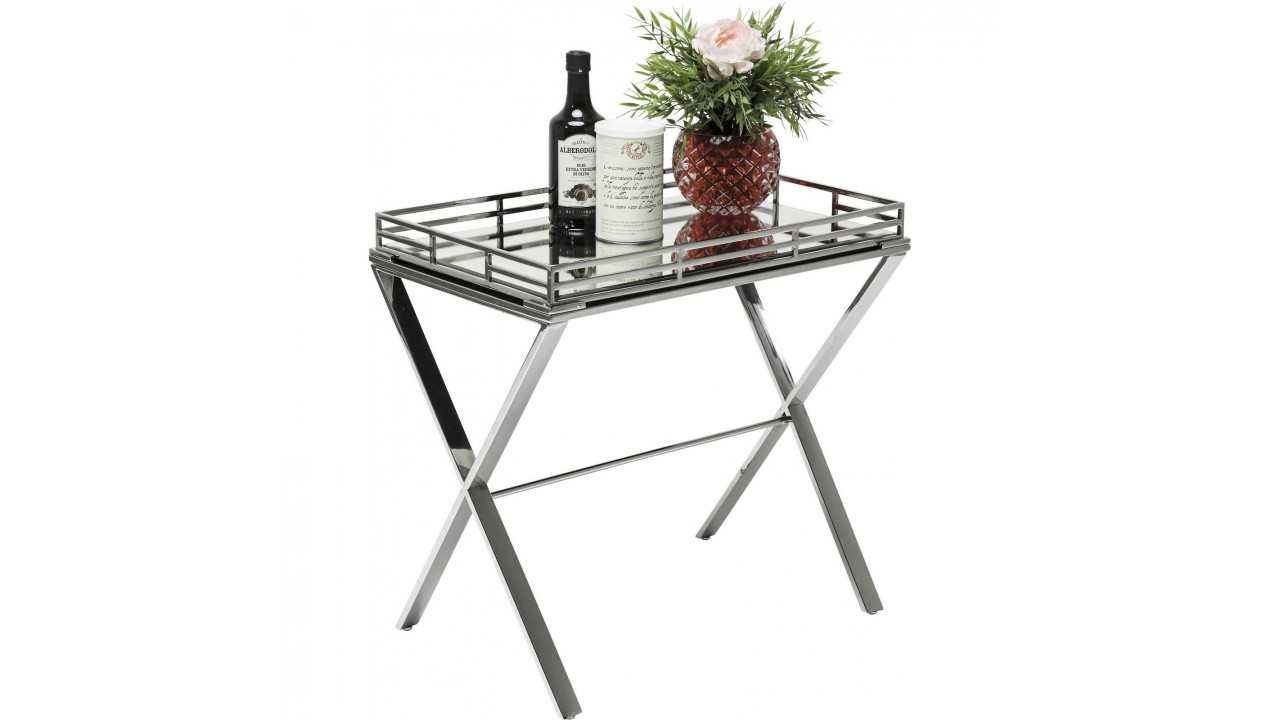 achetez votre table d 39 appoint plateau amovible en chrome. Black Bedroom Furniture Sets. Home Design Ideas