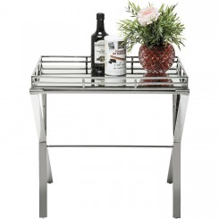TABLE D'APPOINT PLATEAU AMOVIBLE EN CHROME RINK KARE DESIGN