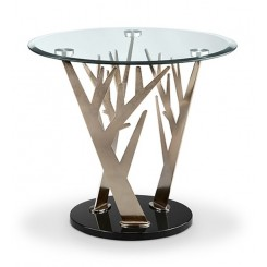 TABLE D'APPOINT DESIGN PLATEAU ROND 66 CM FOREST