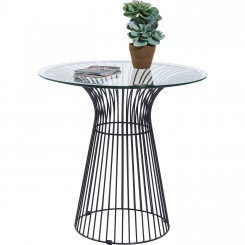 TABLE D'APPOINT DESIGN PLATEAU VERRE CHAMPIGNON KARE DESIGN
