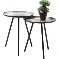 SET DE 2 TABLES D'APPOINTS PLATEAUX PEINTS MYSTIC SHADOW KARE DESIGN