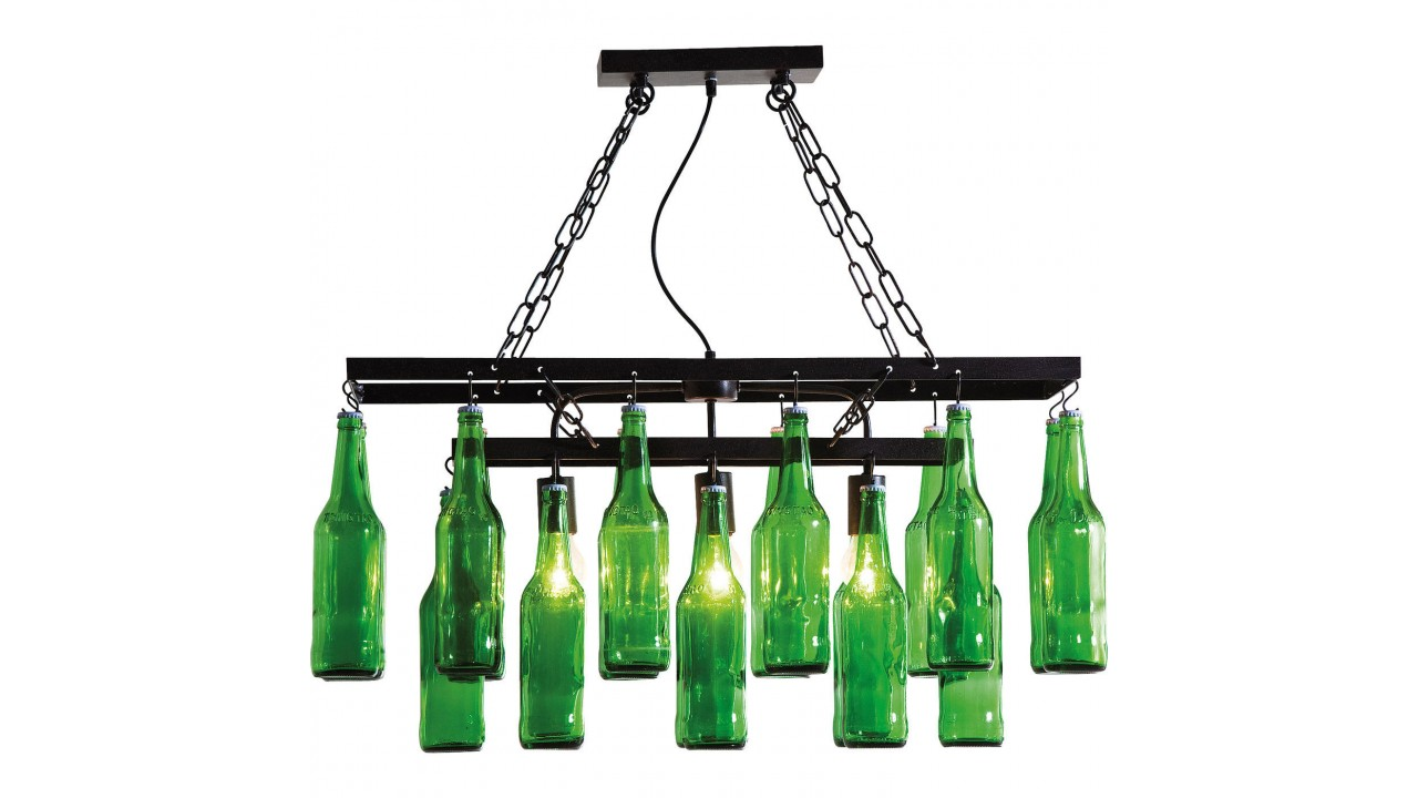 suspension abat jour bouteilles de bi re beer bottle pas cher. Black Bedroom Furniture Sets. Home Design Ideas