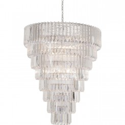 SUSPENSION ASPECT PAMPILLES DE CRISTAL GRAND MODELE BERGKRISTAL KARE DESIGN