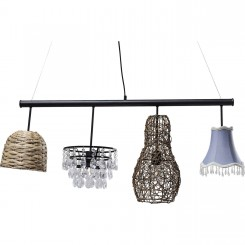 SUSPENSION 4 ABAT-JOUR MODERNE PARECCHI ART HOUSE KARE DESIGN