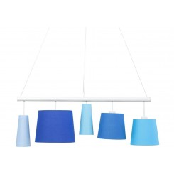 SUSPENSION 5 ABAT-JOUR NUANCE DE BLEU 100 CM PARECCHI KARE DESIGN