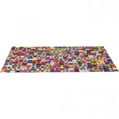 TAPIS EN CUIR MOTIFS RONDS FLASHY 240 X 170 CM DOTTY PRIL KARE DESIGN