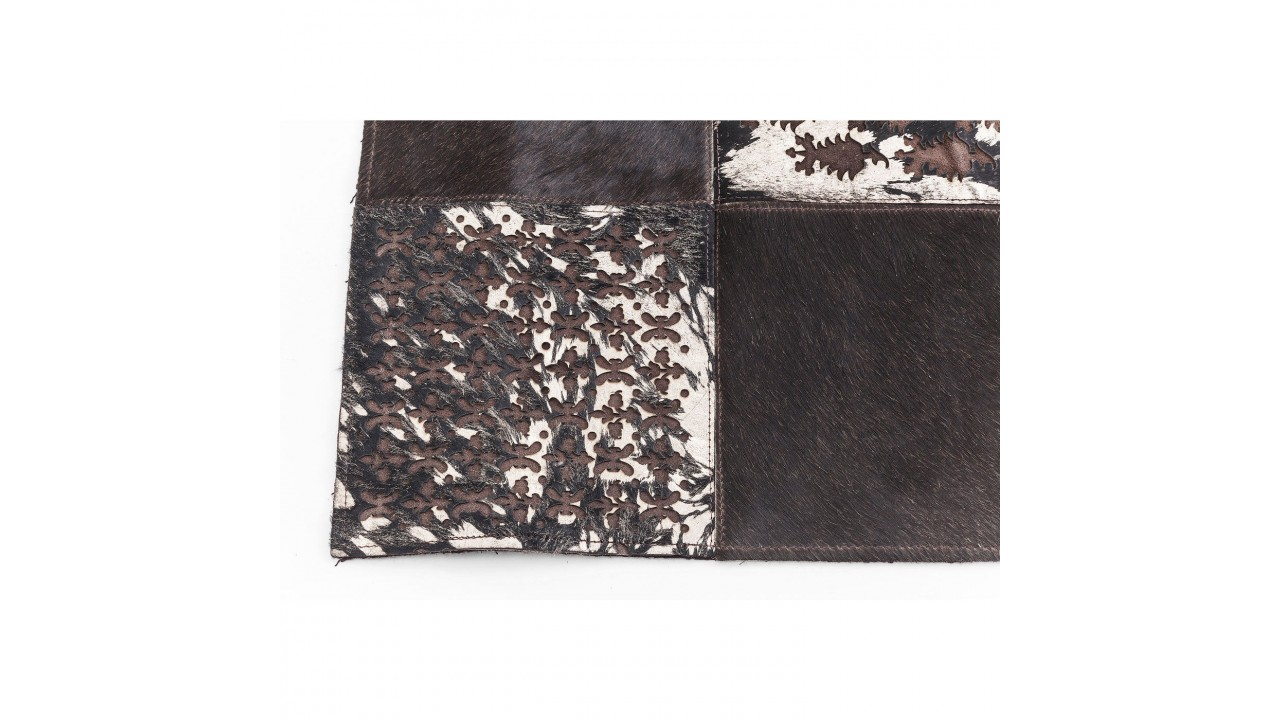 achetez votre tapis cuir marron avec motifs 240 x 170 cm. Black Bedroom Furniture Sets. Home Design Ideas