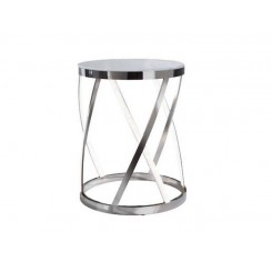 Table d'appoint design cube Leds aluminium Delux