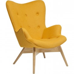 FAUTEUIL RETRO JAUNE MOUTARDE ANGELS WINGS KARE DESIGN