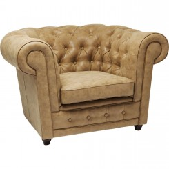 FAUTEUIL CHESTERFIELD CAPITONNE EFFET CUIR OXFORD KARE DESIGN