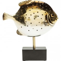 STATUE DECORATIVE POISSON LUNE DORE MOONFISH KARE DESIGN