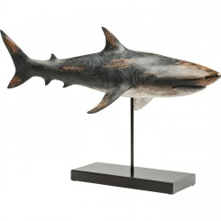 STATUE DECORATIVE REQUIN GRIS EN METAL BASE KARE DESIGN