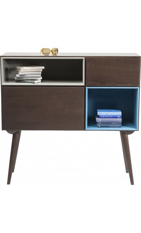 BUFFET RETRO 1 PORTES BOIS MARRON TWO FACES KARE DESIGN