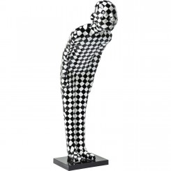 STATUE BIENVENUE WELCOME DAMIER NOIR ET BLANC CHECKER KARE DESIGN