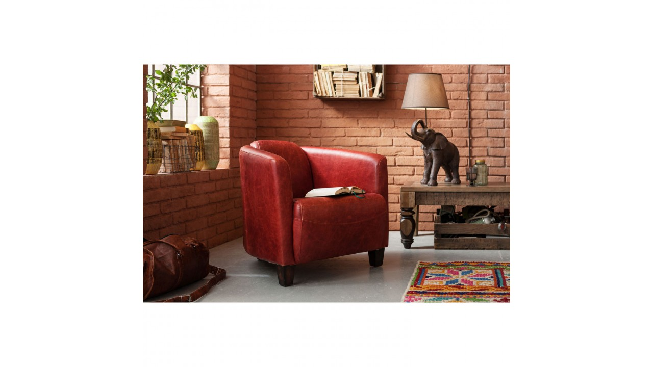 fauteuil club cuir rouge maison design. Black Bedroom Furniture Sets. Home Design Ideas