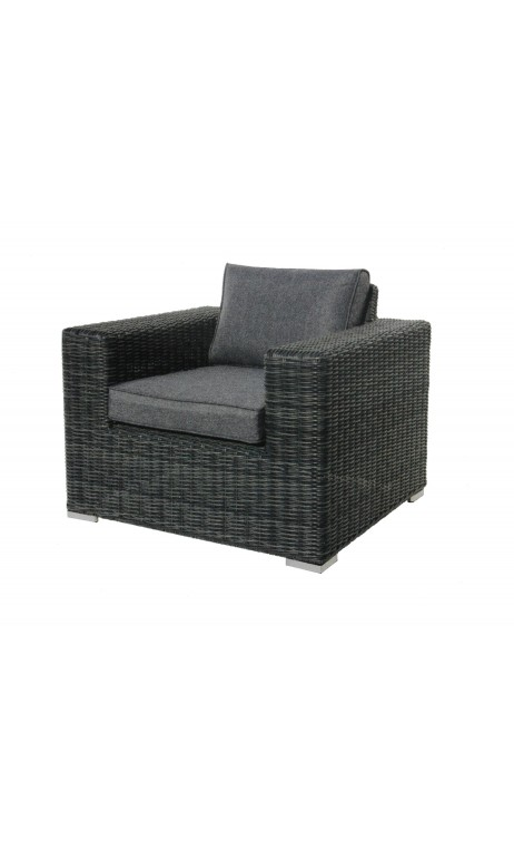 achetez votre fauteuil d 39 ext rieur en r sine tress e gris. Black Bedroom Furniture Sets. Home Design Ideas