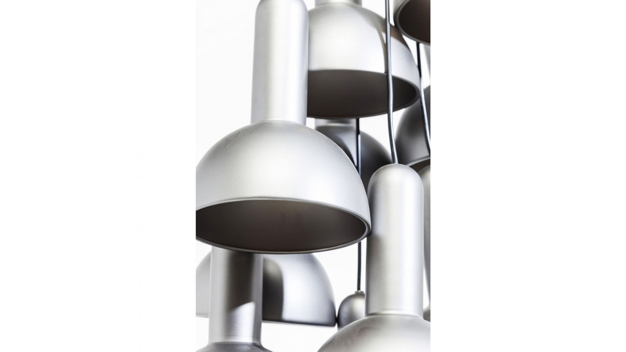 Achetez votre suspension multi abat jours argent s capello for Suspension multiple design