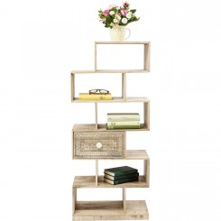 ETAGERE BOIS CLAIR 6 CASIERS ZICK ZACK PURO KARE DESIGN