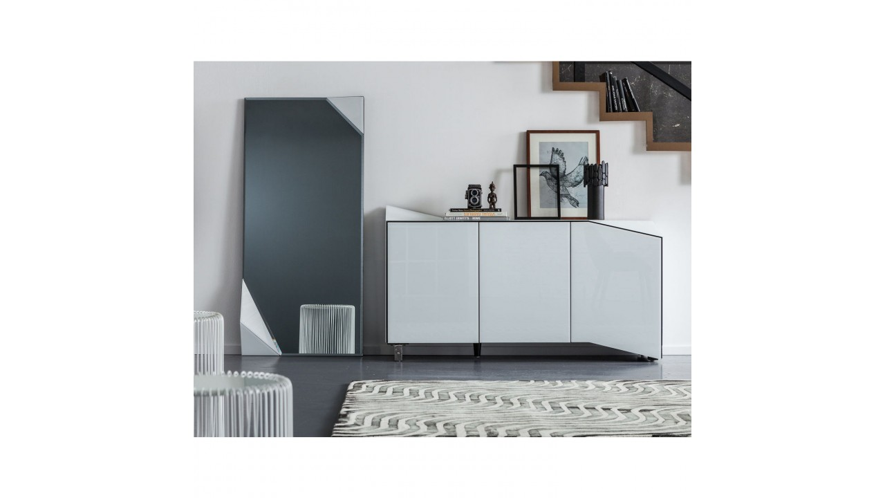 buffet laque blanc design maison design. Black Bedroom Furniture Sets. Home Design Ideas