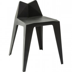 CHAISE DESIGN GEOMETRIQUE NOIR TRIANGLE KARE DESIGN