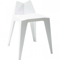 CHAISE DESIGN GEOMETRIQUE BLANCHE TRIANGLE KARE DESIGN