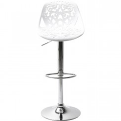 TABOURET DESIGN BLANC ET CHROME ORNAMENT KARE DESIGN