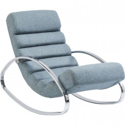 Fauteuil Rocking chair Manhattan bleu