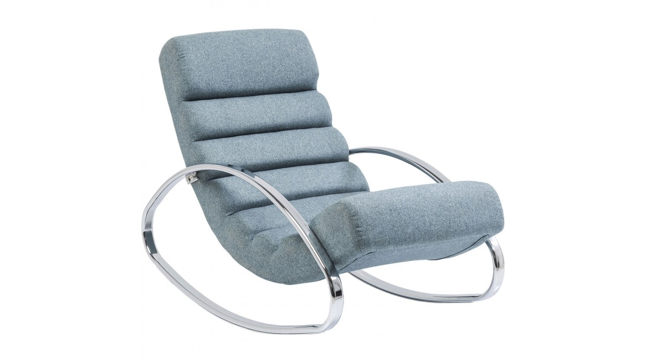 achetez votre fauteuil rocking chair manhattan bleu pas. Black Bedroom Furniture Sets. Home Design Ideas