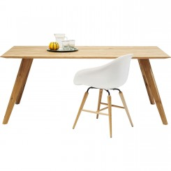 TABLE A MANGER 180 CM BOIS NATUREL MODERN LINE KARE DESIGN