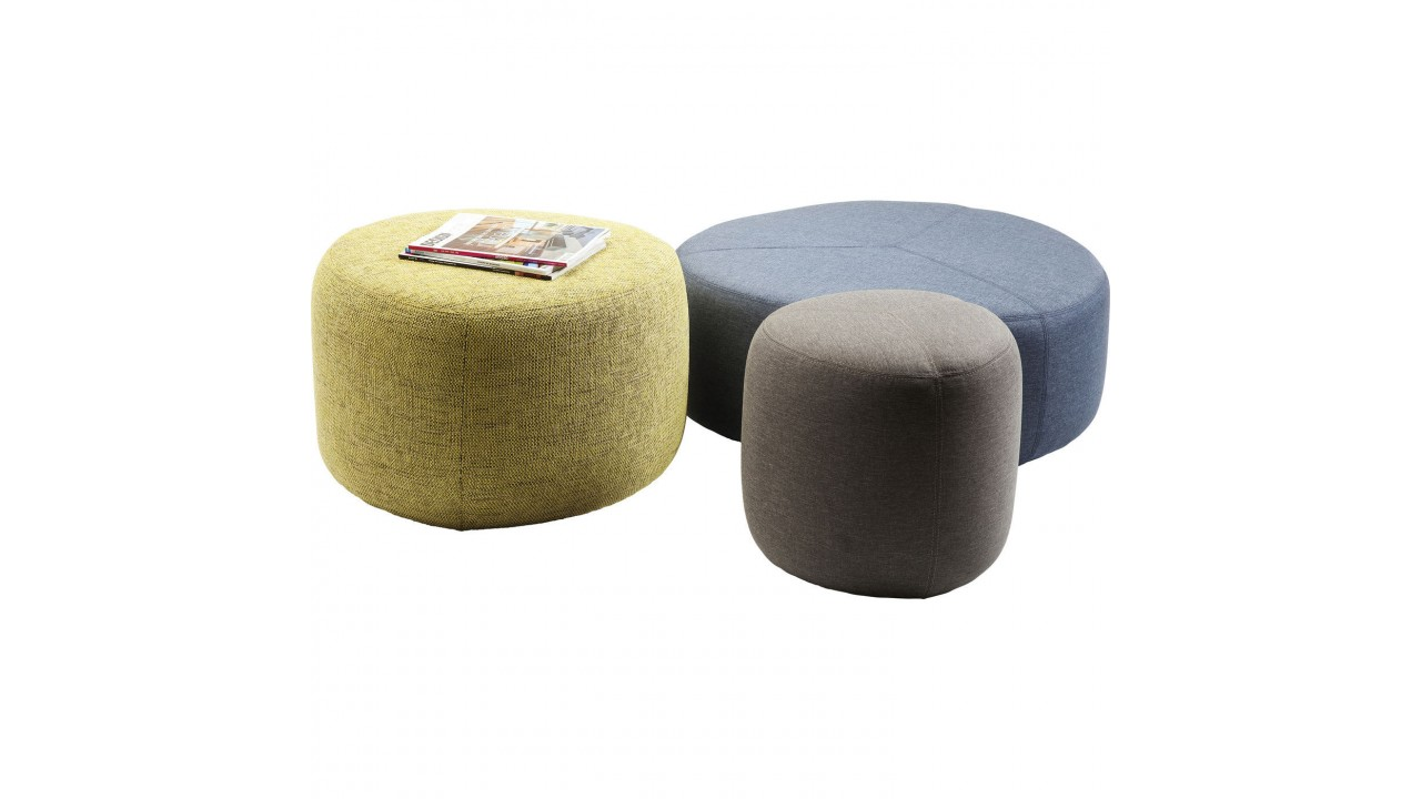 achetez votre pouf effet jean gris fonc coco kare design. Black Bedroom Furniture Sets. Home Design Ideas
