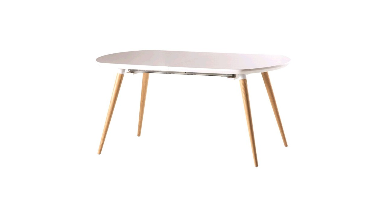 Table a manger blanc laque maison design for Table a manger blanc