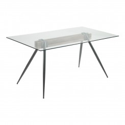 TABLE A MANGER 160 CM VERRE ET CHROME AIRY CAMINO A CASA