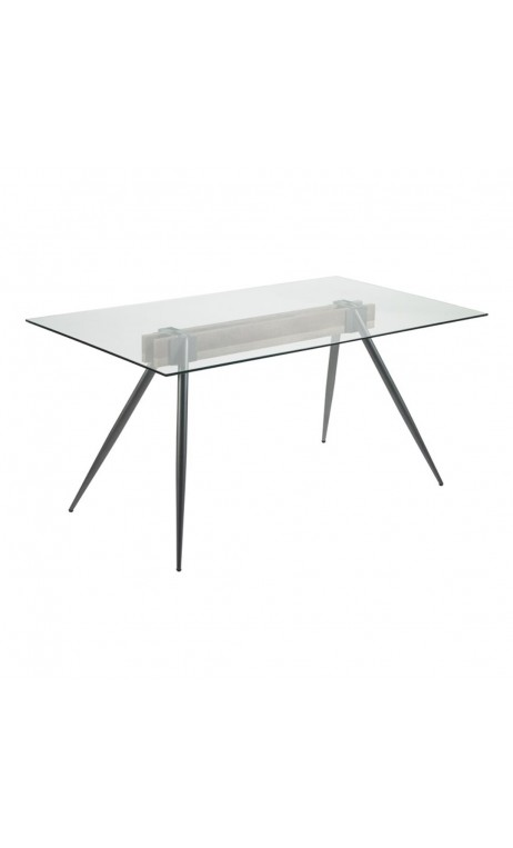 achetez votre table manger 140 cm verre et chrome airy pas cher sur loft. Black Bedroom Furniture Sets. Home Design Ideas