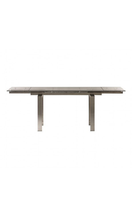 TABLE A MANGER DESIGN VERRE ET CHROME 140-220 CM EMPIRE CAMINO A CASA