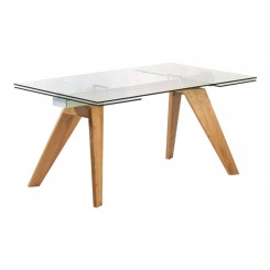 TABLE A MANGER DESIGN 160-210 CM BOIS ET VERRE MOUNTAIN CAMINO A CASA