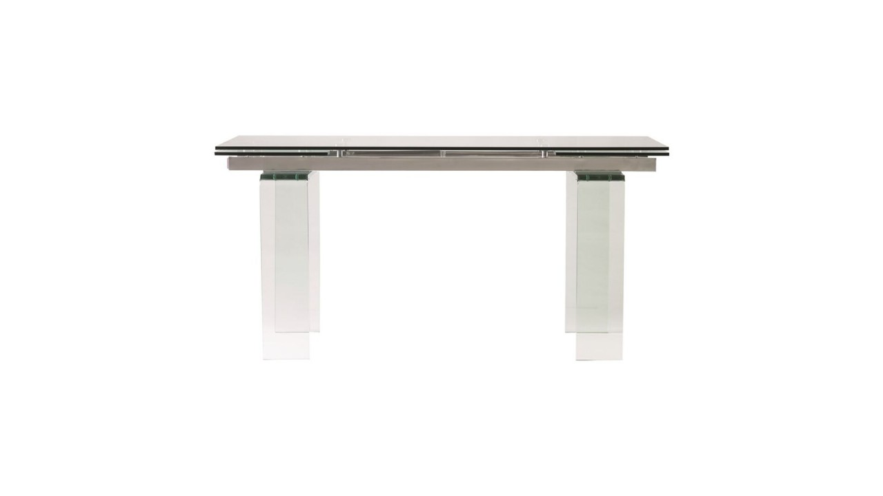 Achetez votre table manger 160 240 cm rectangle verre for Table de salle a manger 240 cm