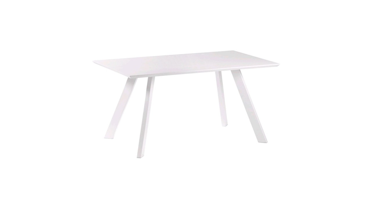 Achetez votre table manger laqu blanc 150 cm impossible for Table a manger blanc laque