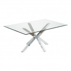 TABLE A MANGER RECTANGULAIRE 180 CM VERRE ET CHROME IDOL CAMINO A CASA